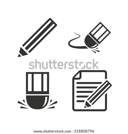 eraser clipart black and white. pencil icon. edit document file. eraser sign. correct drawing symbol. flat icons clipart black and white