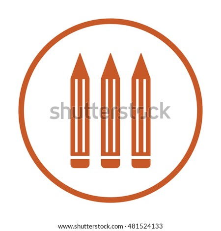 Pencil  icon. Flat design.