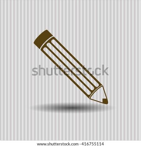 Pencil icon, Pencil icon vector, Pencil icon symbol, Pencil flat icon, Pencil icon eps, Pencil icon jpg, Pencil icon app, Pencil web icon, Pencil concept icon, Pencil website icon, Pencil - stock vector