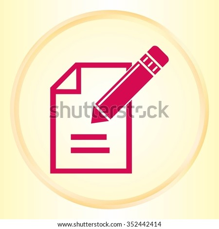 Pencil icon, vector illustration. Flat design style