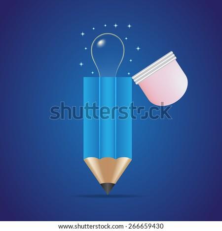 Pencil Idea - stock vector