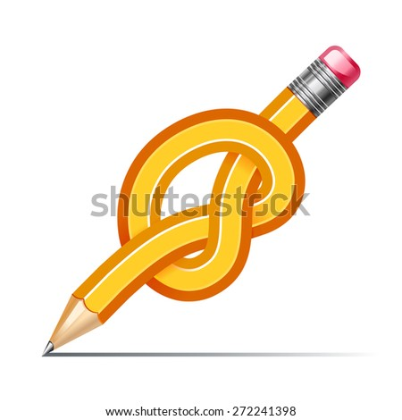 pencil knot - stock vector