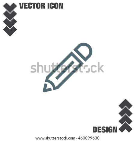 Pencil line vector icon. Edit symbol. Drawing tool sign - stock vector
