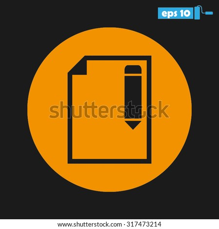 pencil paper sheet - stock vector