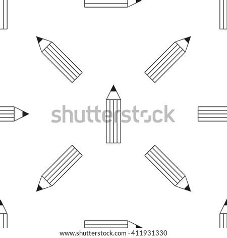 Pencil pattern Icon. Pencil pattern eps. Pencil pattern vector. Pencil pattern black. Pencil pattern thin line. Pencil pattern black. Pencil pattern monochrome. Pencil pattern outline. Pencil pattern. - stock vector