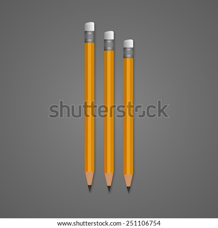 Pencil. Pencils on grey background - stock vector