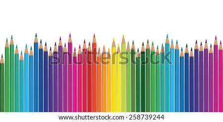 pencil rainbow - stock vector