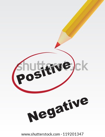 pencil tick mark positive not negative