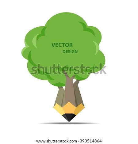 pencil tree - stock vector