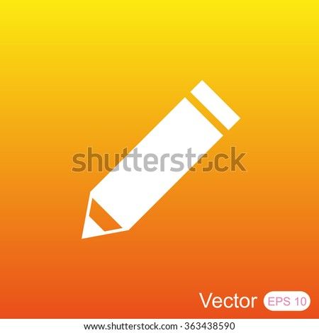 Pencil vector icon - stock vector