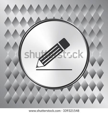 Pencil vector icon. Flat design style - stock vector