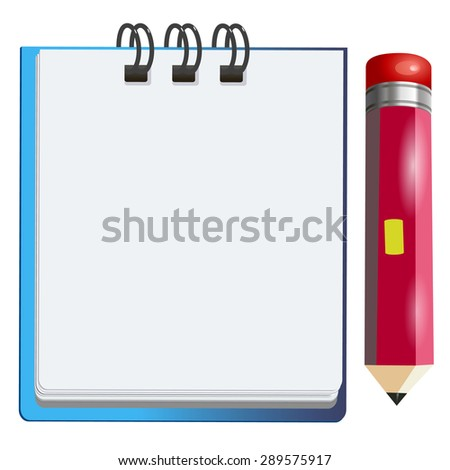 pencil vector notebook office notepad icon note