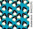 penguin background - stock vector