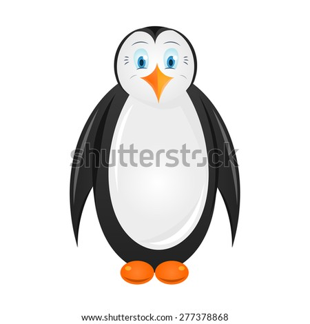 Penguin cartoon - stock vector