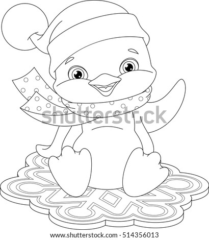 Coloring page stock images royalty free images vectors for Penguin adult coloring pages