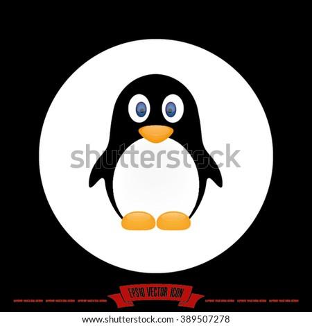 penguin icon, penguin icon eps10, penguin icon vector, penguin icon eps, penguin icon jpg, penguin icon picture, penguin icon flat, penguin icon AI,  penguin icon drawing - stock vector - stock vector