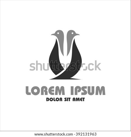 Penguin Template Logo Stock Vector Hd Royalty Free