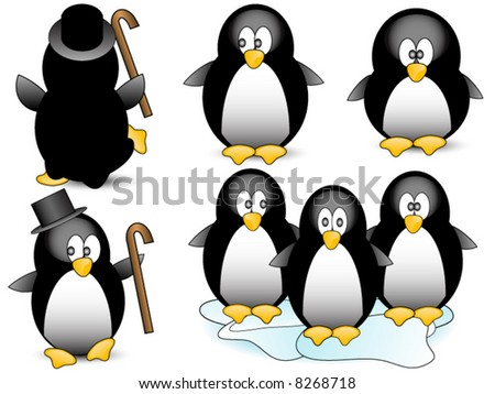 Penguin vector.