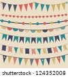 Pennant & bunting collection - stock vector