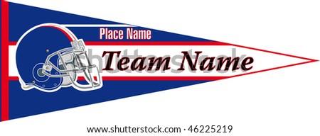 pennant Football team Blue - stock vector