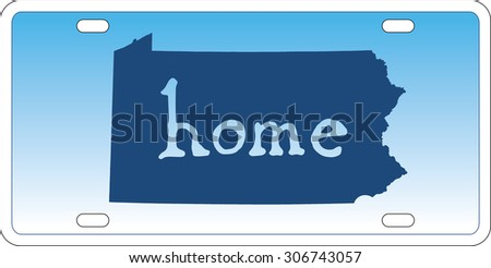 Pennsylvania state license plate vector