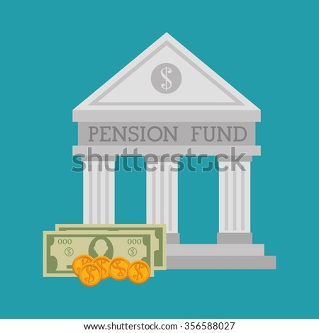 Pension funding graphic design, vector illustration eps10