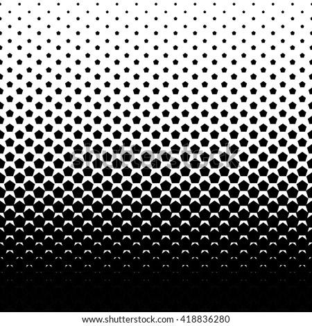 Pentagon halftone Vector abstract background. - stock vector