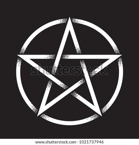Pentagram Pentalpha Pentangle Hand Drawn Dot Stock Vector Royalty