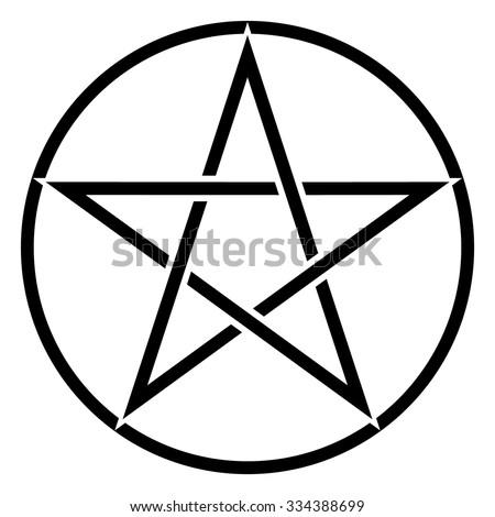 Pentagram Symbol Star Sign Magic Evil Stock Vector Royalty Free
