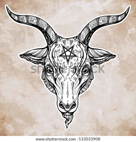 Evil goat tattoo - photo#54
