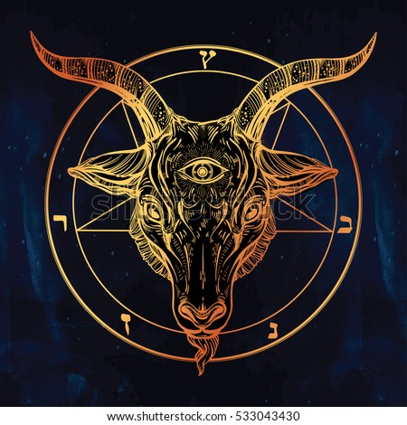 Satanism stock images royalty free images vectors for Baphomet tattoo meaning
