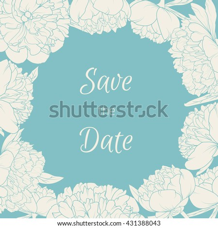Blooming Summer Flowers Design Element Wedding Event Invitation Template