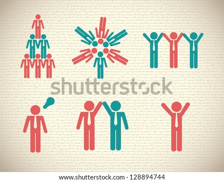 People actions over white background vector illustration - stock vector