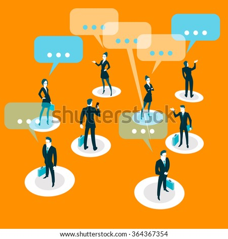 People all over the world communicate with each other. Vector illustration - stock vector