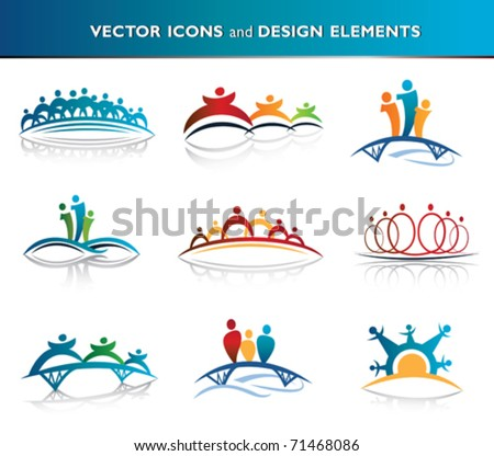 People and community icon pack - stock vector