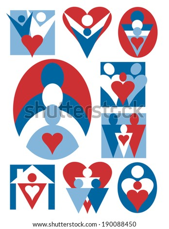 People and Hearts icon collection