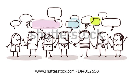 people and social network - stock vector