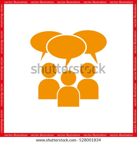 people and talk cloud vector icon