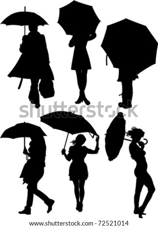 People and umbrellas