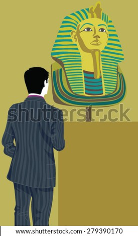 People are visiting Museum  - stock vector