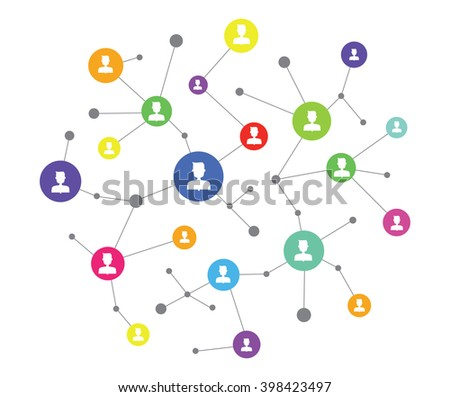 people business online connection  concept and social media network communication