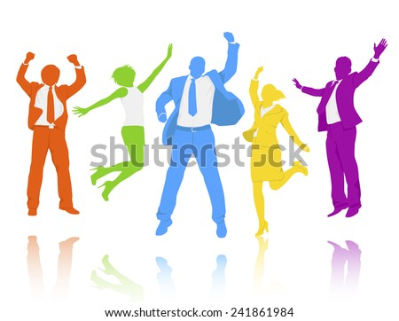 People Celebrating - stock vector