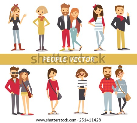 people characters - stock vector