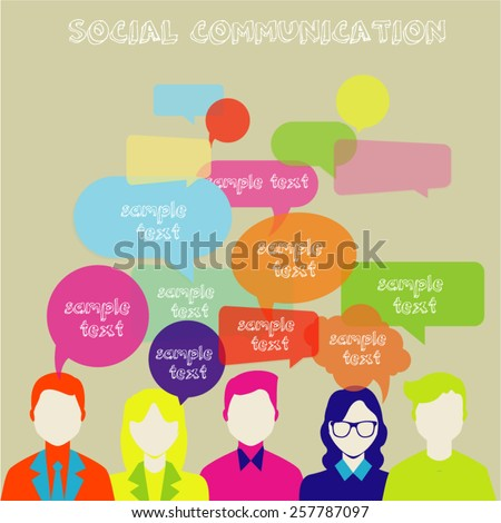 People Chatting. Vector illustration of a communication concept, relating to feedback, reviews and discussion.  This image contains transparency.