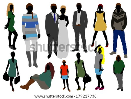 People color set - stock vector