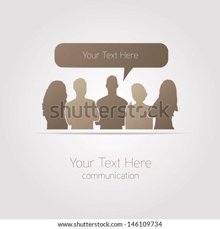 People communicating vector social media - stock vector