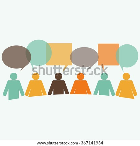 People communication - stock vector