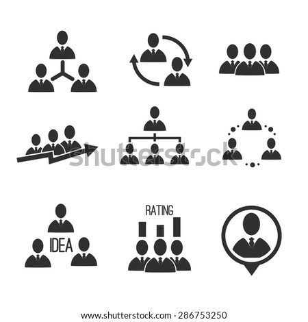 People communication vector icons set