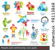 People community 3d icons. Vector design elements. Vol. 2 - stock vector