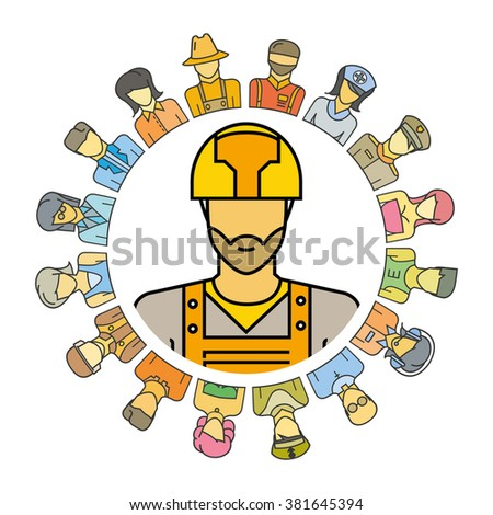 people community, people social community, profession concept - stock vector